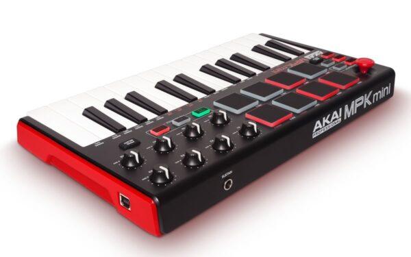 AKAI MPK Mini MK2 - Teclado controlador portátil com 8 Pads e 8 Knobs
