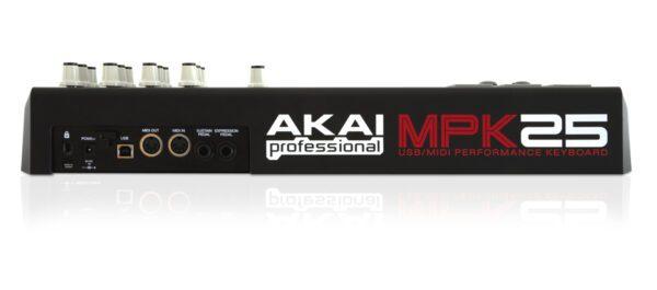 Painel traseiro - Controlador AKAI MPK-25