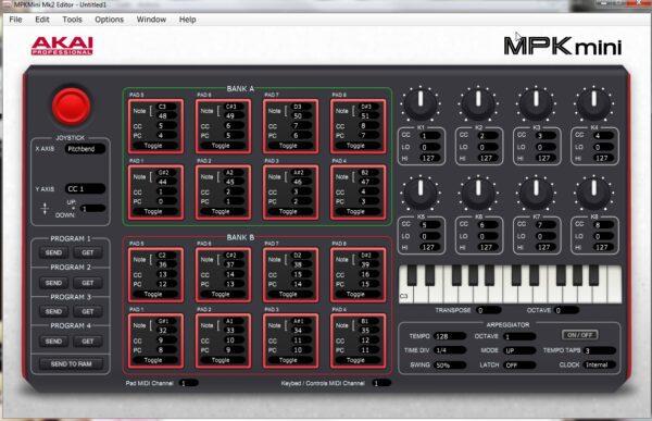 AKAI MPK Mini MK2 - Editor Virtual