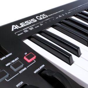 Detalhe - Alesis Q25 MIDI Keyboard Controller