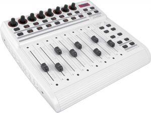 Visão Geral - Controlador Behringer BCF-2000: 8 Faders Motorizados (White edition)
