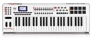 Painel frontal - Teclado controlador M-Audio Axiom Pro 61