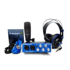 Pacote de gravação em estúdio - PreSonus Audiobox Studio