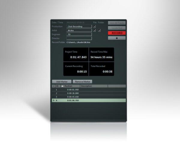 Nuendo Live - Session Setup