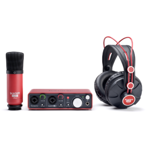 Focusrite Scarlett Sudio | Microfone + Interface + Headphone