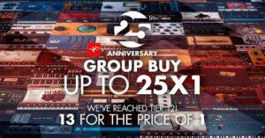 Compra em grupo de 25 anos   IK Multimedia - até 25 produtos grátis!